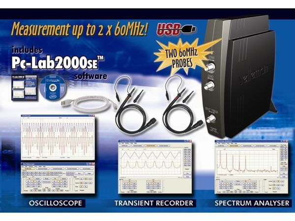 Two-Channel USB PC Digital Storage Oscilloscope