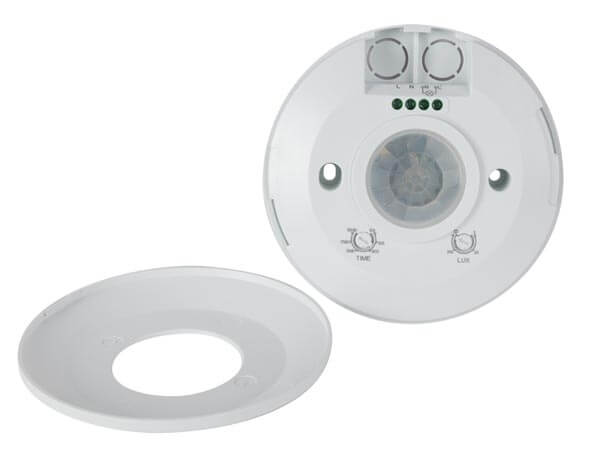 240Vac PIR Motion Detector 115mmØ - Ceiling Surface Mounting