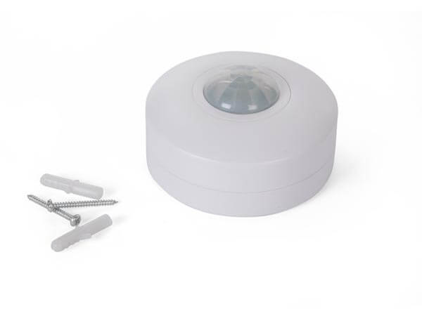 240Vac PIR Motion Detector 88mmØ - Ceiling Surface Mounting