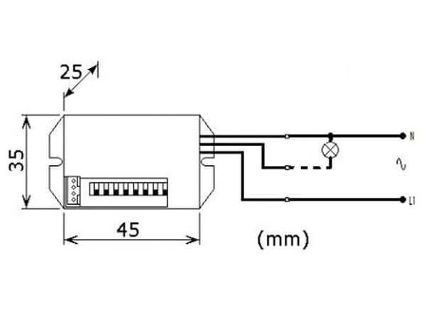 velleman pir415 240vac mini pir motion detector module quasar uk 240vac mini pir motion detector module