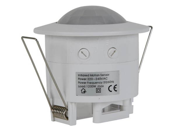 240Vac PIR Motion Detector 45mmØ - Build In