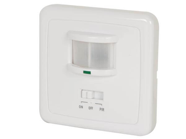 240Vac PIR Motion Detector - Flush Mounting (White)