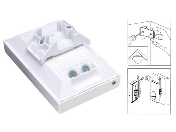 240Vac PIR Motion Detector - Surface Mount (White)