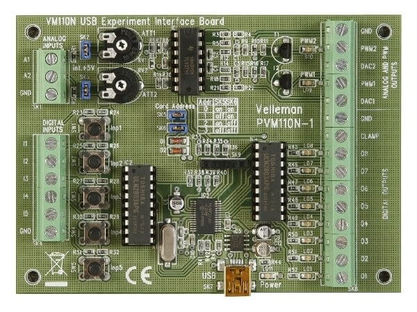 ASSEMBLED USB Experiment Interface Board (New Version)