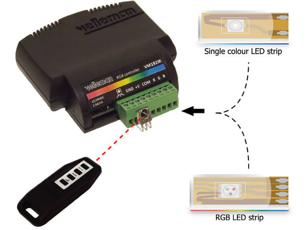 12-24V RGB LED Controller Module with IR Remote