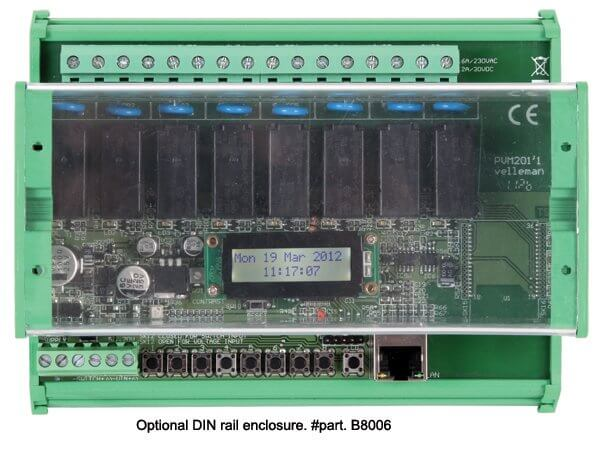 8-Channel Ethernet Relay Card Module