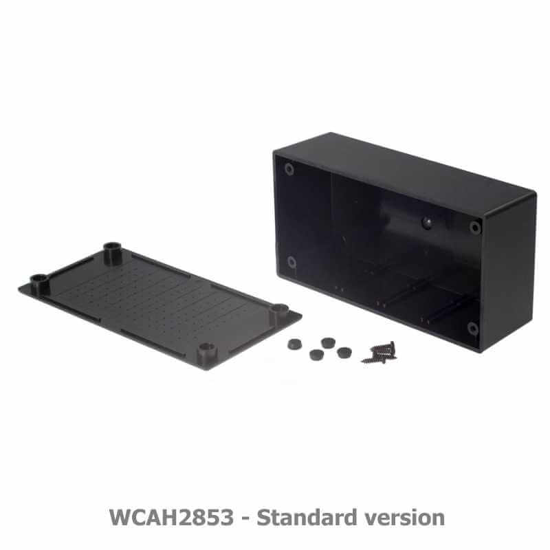 Multipurpose ABS Enclosure, Black - 130 x 68 x 44mm