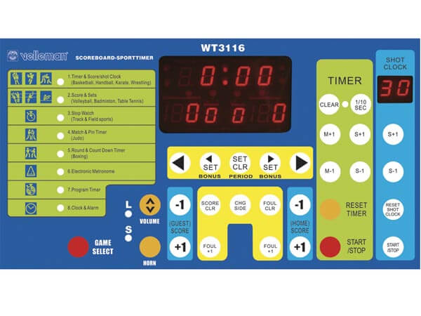 Electronic Scoreboard / Sports Timer (UK Version)