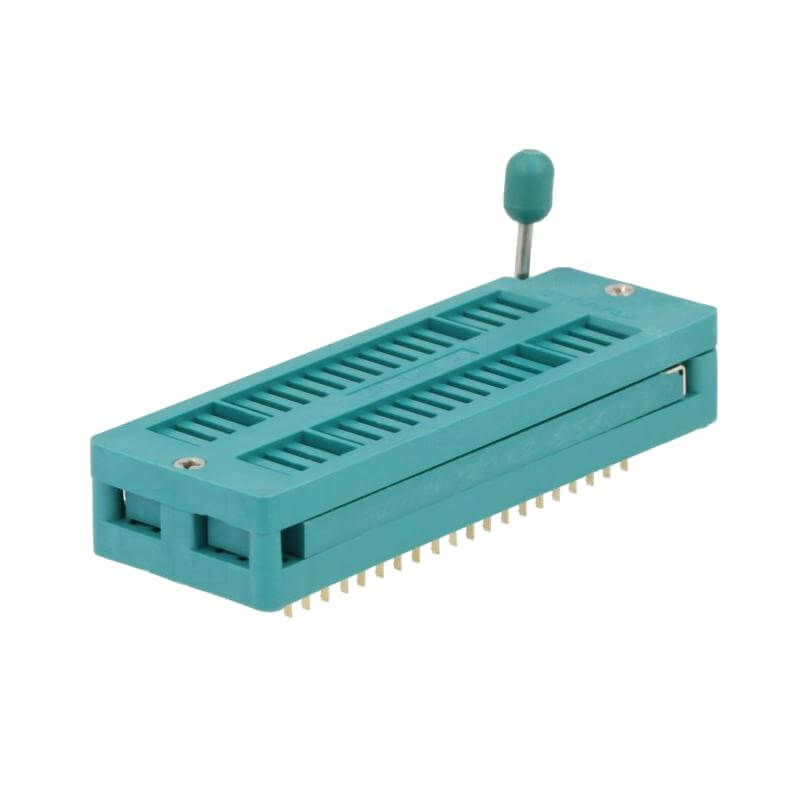 40 Pin Wide Slot ZIF Socket