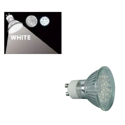 159.201UK - GU10 18x LED Mains Lamps 230Vac, Cool White