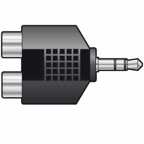 758.819UK, 759.490UK - 3.5mm Jack Plug to 2 x RCA Phono Socket Adaptors