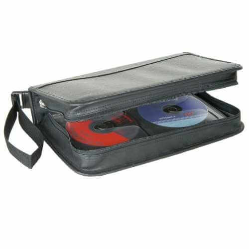 CD Carry Case, Leather Like Finish - 96 CDs