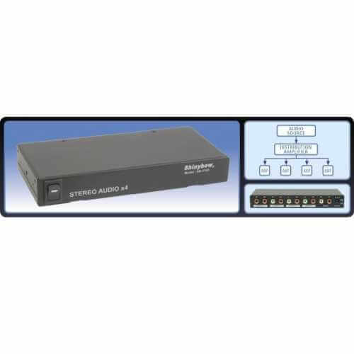 Stereo Audio Distribution Amplifier, 1 Input 4 Outputs
