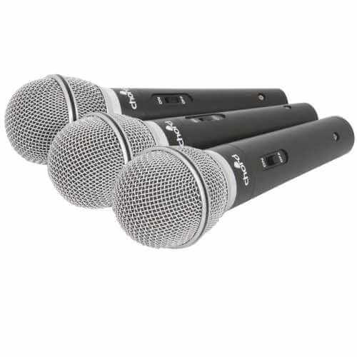 173.860UK - CHORD DM03X Set Of 3 Dynamic Microphones