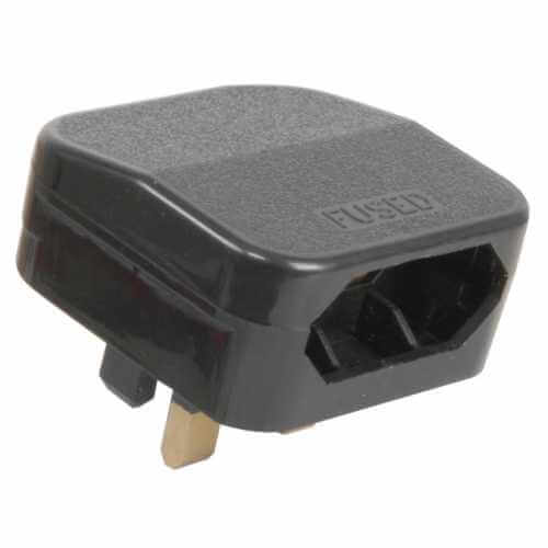 429.823UK - 2-pin CEET (XVI) Euro Plug to UK Converter Plug, Black