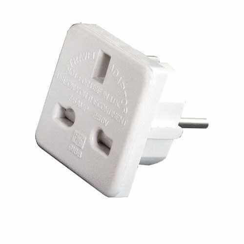 429.831UK - UK to European Travel Adaptor (Blister Packed)