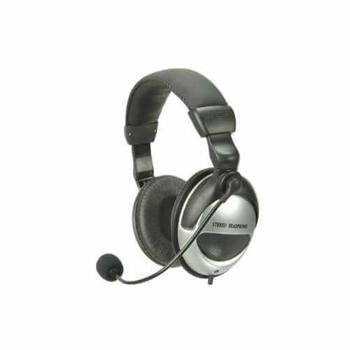 Digital Multimedia Headset with Boom Microphone
