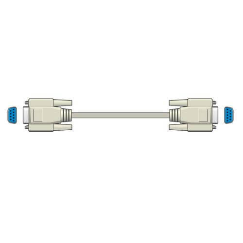 9-Pin F-F Null Modem Serial Cable, 2m