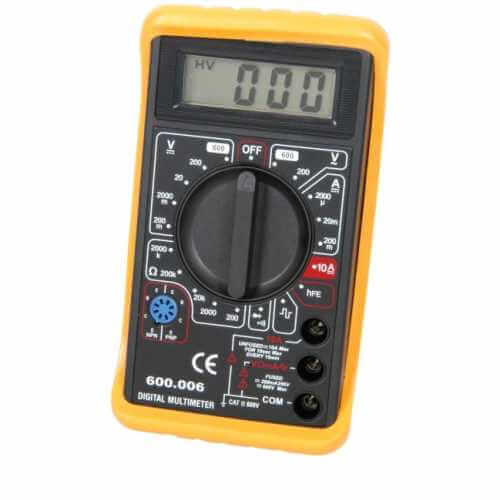 600.006UK - Compact Digital Multitester with Diode and HFE Test