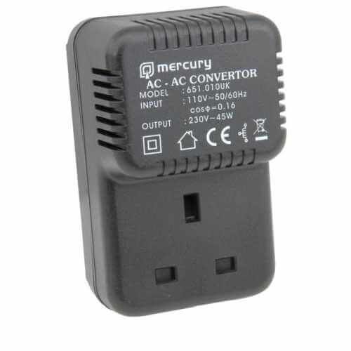 651.010UK - Step Up Mains Voltage Converter 110V < 230Vac, 45 Watt