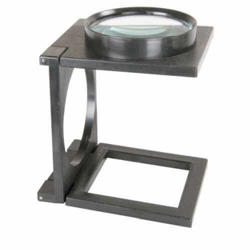 700.060UK - Folding Magnifier, 110mm Glass Lens, 2x