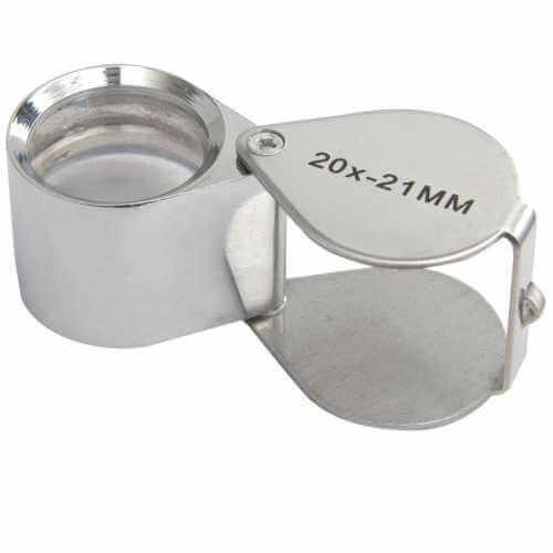 700.063UK - Folding Magnifier, 21mm Loupe, 20x, Chrome