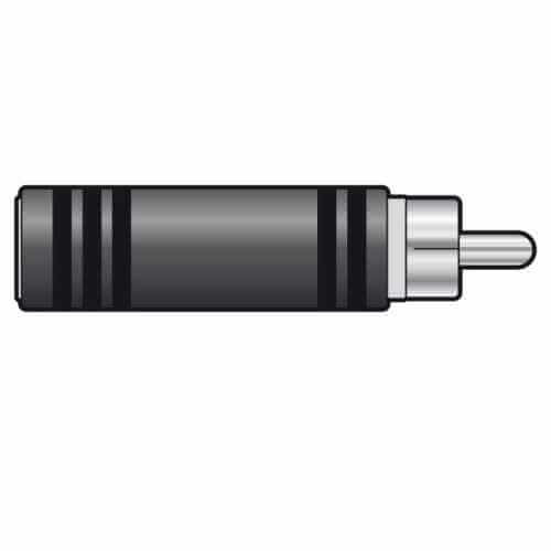 760.131UK - RCA Phono Adaptor (RCA Plug to 6.3mm Mono Socket)