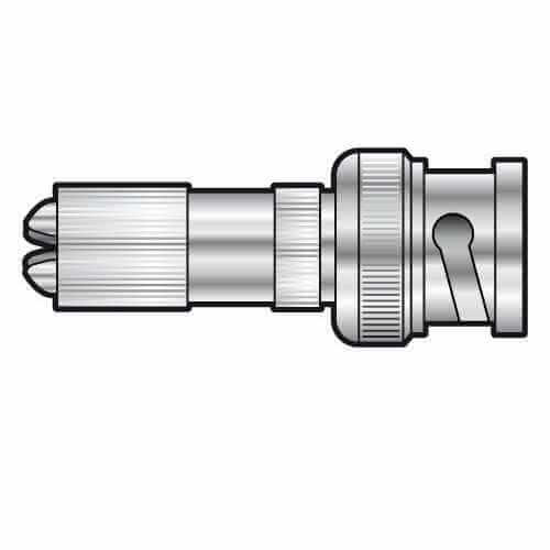 767.705UK - HQ BNC Plug, Gold Contact, Screw Terminals for 6.5mmØ Cable