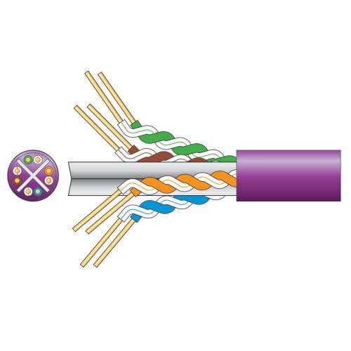 Cat6 U/UTP LSZH Network Cable, Lilac, 305m Box
