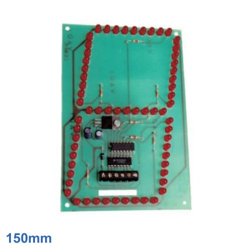 150mm High, 1-Digit, 7-Segment Red LED BCD Display Module
