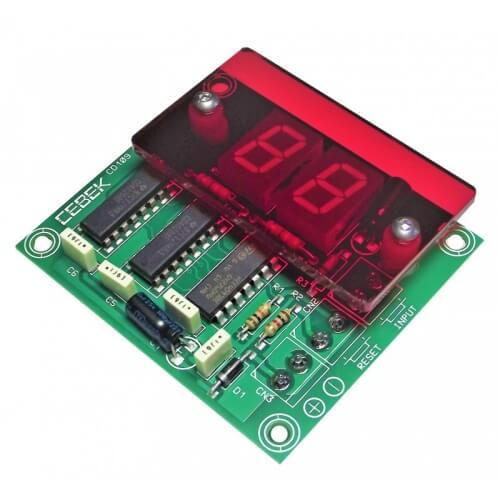 Cebek CD-109 (CCD109) - 2-Digit Standard UP Counter Module (13mm Digits)