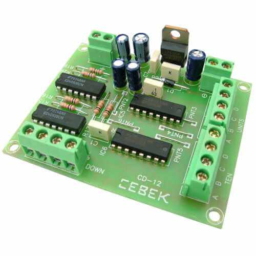 Up/Down Counter Driver Module with 2-Digit BCD Output