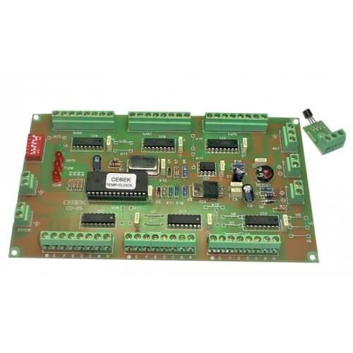 Cebek CD-26 (CCD026) - Digital Clock/Date/Thermometer Driver (Multiplexed 6-Digit Output)