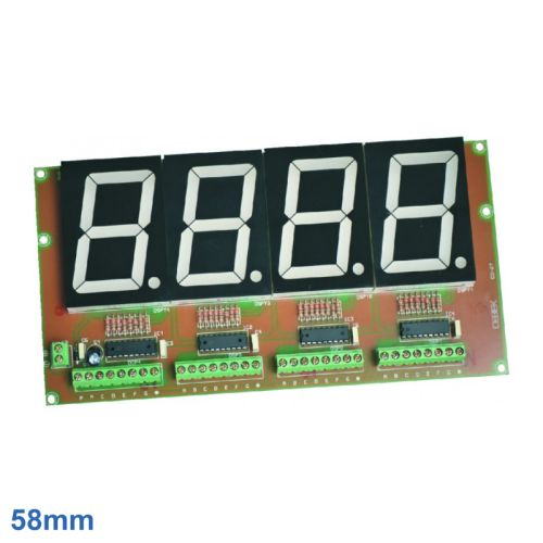 Cebek CD-27 (CCD027) - 58mm High, 4-Digit, 7-Segment LED Display Board