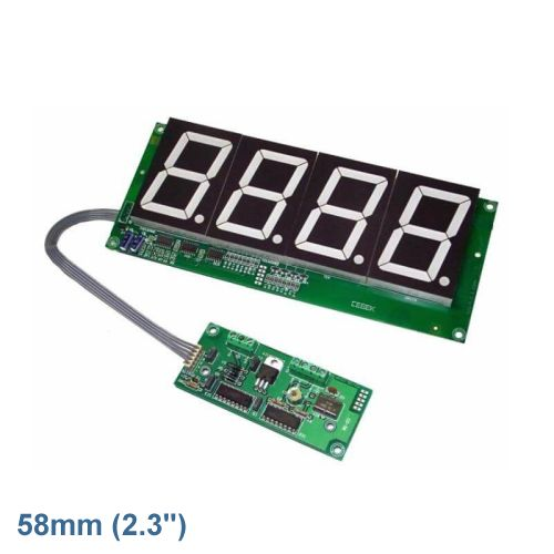 Cebek CD-30.2 (CCD030.2) - 4-Digit Stopwatch Chronometer Module (58mm Digits)