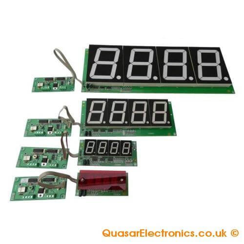 4-Digit Stopwatch Chronometer Module (Various Display Sizes)