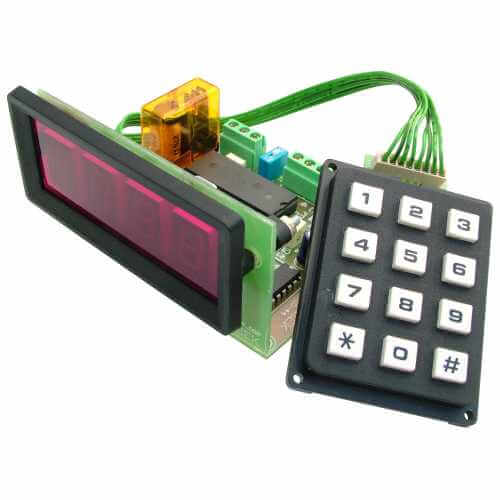 4-Digit Up/Down Counter Module (Preset, Memory, Relay, 13mm Digits)