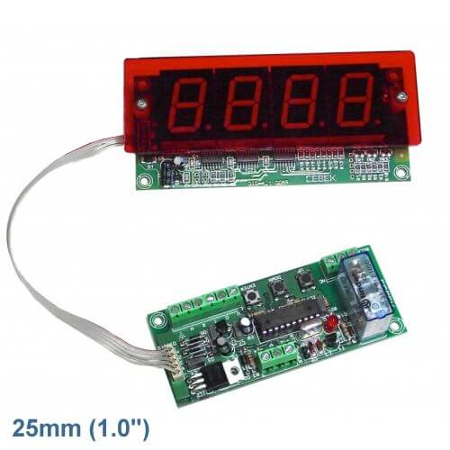 Cebek CD-5.1 (CCD005.1) - 4-Digit Up/Down Counter Module - Preset and Relay (25mm Digits)
