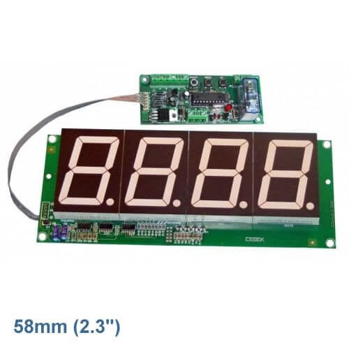 Cebek CD-5.2 (CCD005.2) - 4-Digit Up/Down Counter Module - Preset and Relay (58mm Digits)