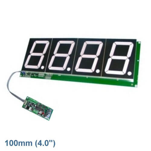 4-Digit Up/Down Counter Module - Preset and Relay (100mm Digits)