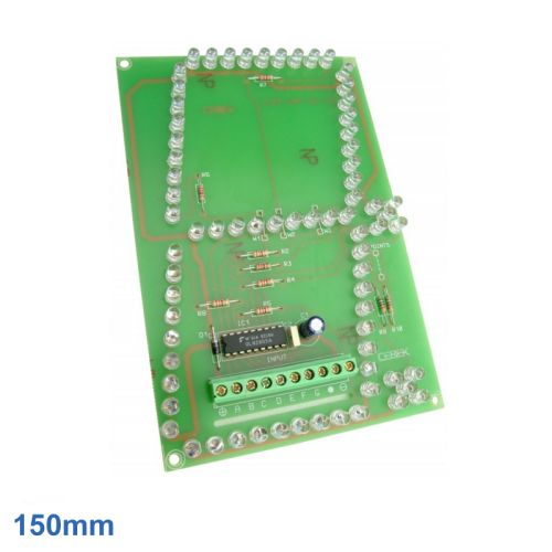 Cebek CD-53 (CCD053) - 150mm High, 1-Digit, 7-Segment + 2 Dots SuperBright Red LED Display Module