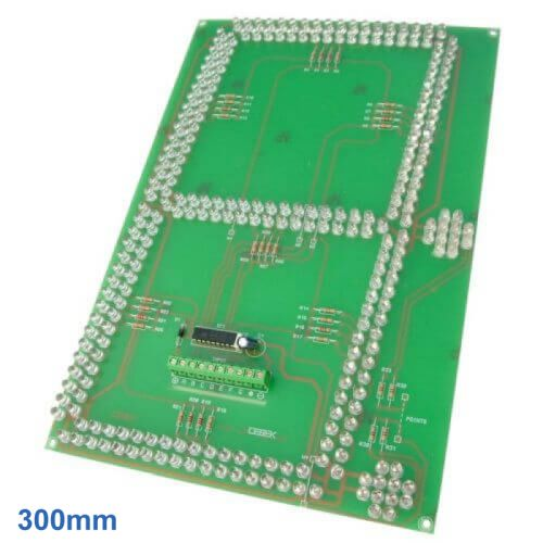 Cebek CD-54 (CCD054) - 300mm High, 1-Digit, 7-Segment + 2 Dots SuperBright Red LED Display Module