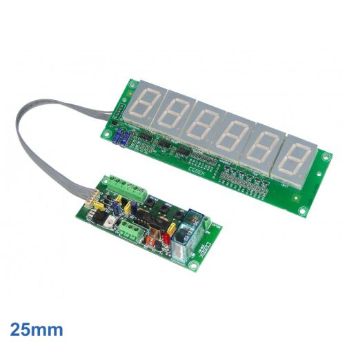 6-Digit Up/Down Counter Module - Preset and Relay (25mm Digits)