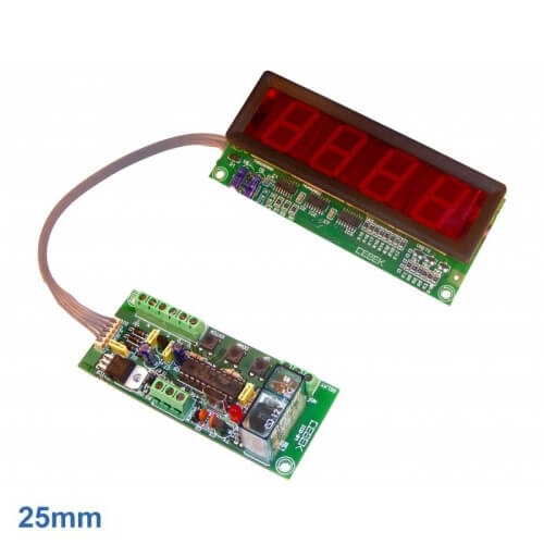 Cebek CD-8 (CCD008) - 4-Digit Up/Down Counter Module with Preset and Relay (20mm Digits)