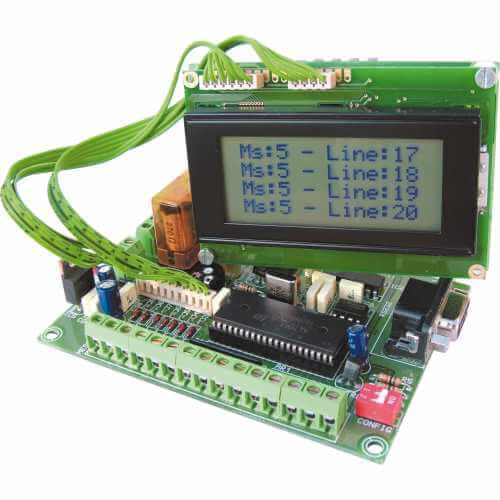 50 Message Programmable LCD Display (16x4 Illuminated)