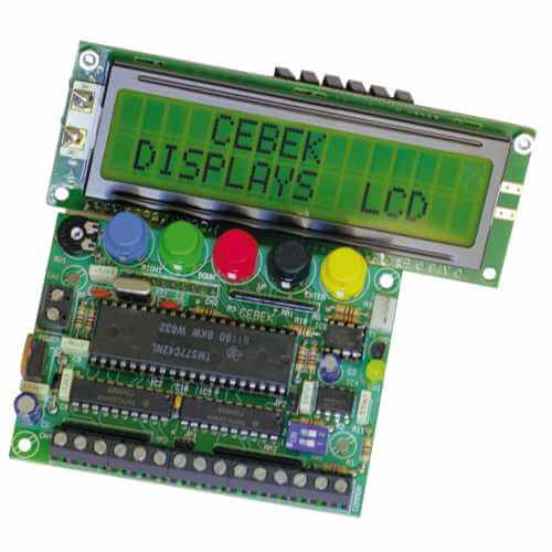 15 Message Programmable LCD Display (16x2 Illuminated)