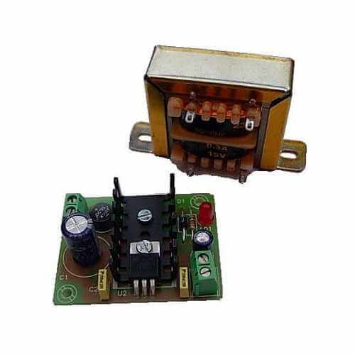 Cebek FE-71 (CFE071) - Power Supply Module, 9Vdc, 300mA with 230Vac Chassis Transformer