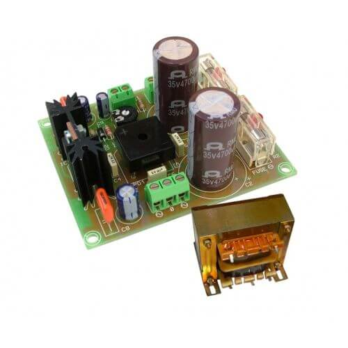 ±24V, 2A Dual Polarity Power Supply with 230Vac Chassis Transformer