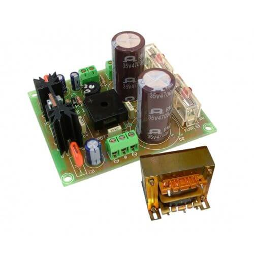 +/- 28V, 2.5A Dual Polarity Power Supply with 230Vac Chassis Transformer