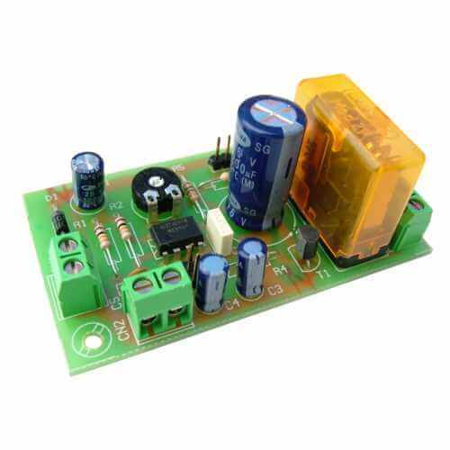12Vdc Delay Timer Relay Module, 1 to 180 Second